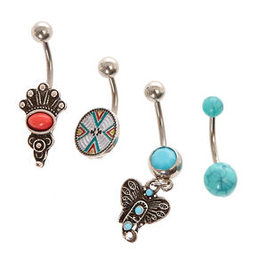 Tribal Elephant Belly Button Rings,