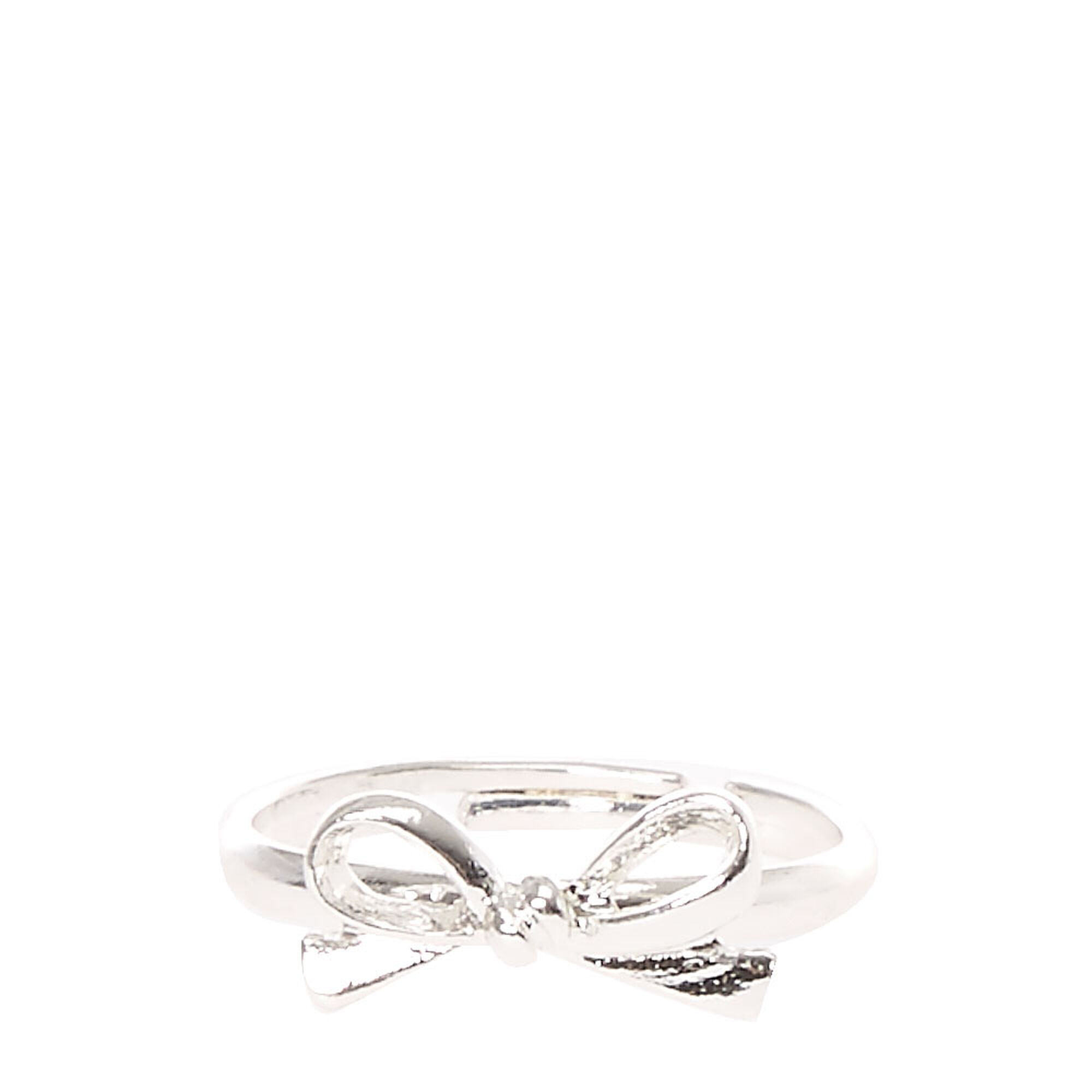 Silver Toned Bow Ring