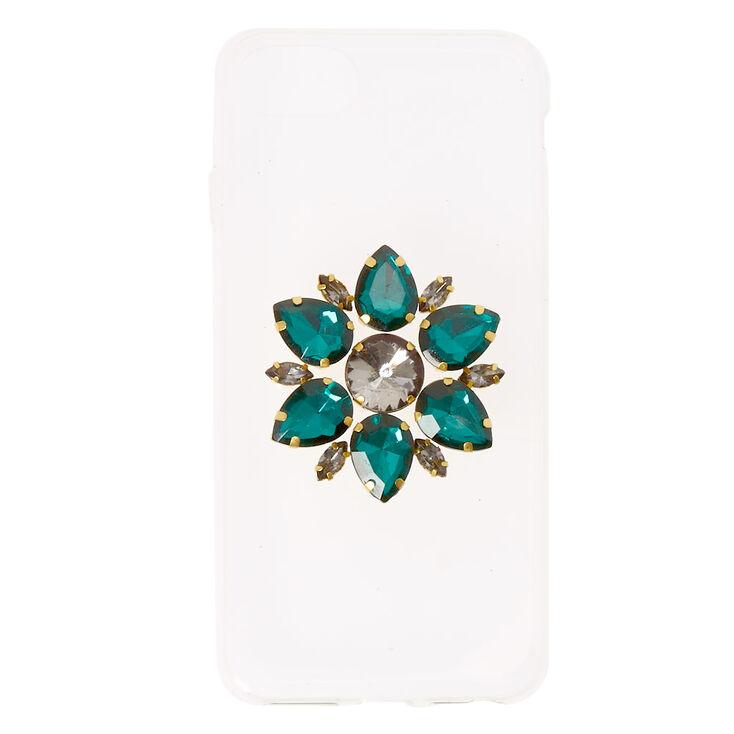 Emerald Jewel Flower Phone Case,