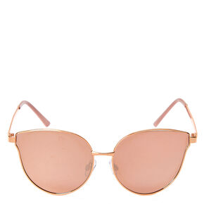 Rose Gold Cat Eye High Brow Sunglasses,