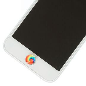 Tie Dye Phone Button Stickers,