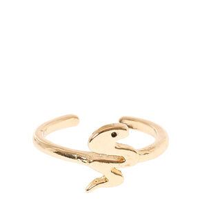 Gold Toned Snake Toe Ring,