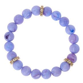Purple Beaded Stretch Karma Bracelet,