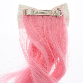 Fake hair clip ins extensions wigs claires us unicorn faux hair clip pmusecretfo Choice Image