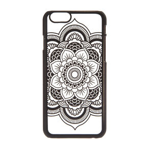 Frosted Black Mandala Phone Case,