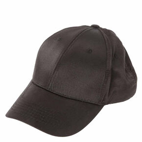 Black Satin Baseball Cap,