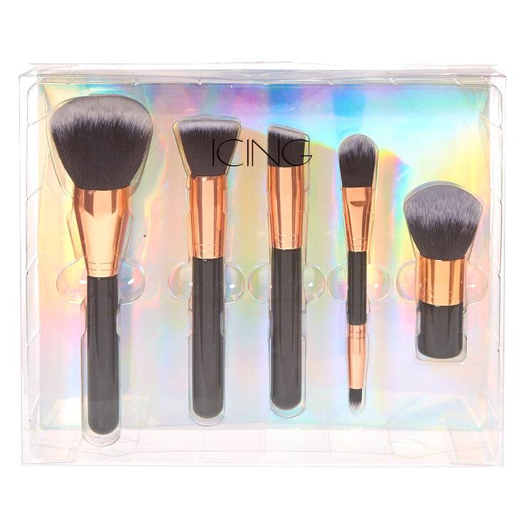 5 Pc Rose Gold Cosmetic Brush Set,