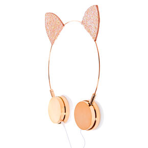 Rose Gold Cat Ear Headphones,