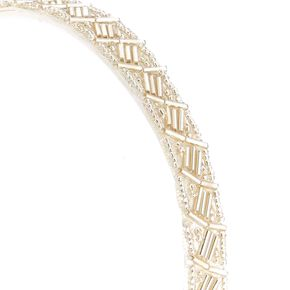 White Beaded Headband,