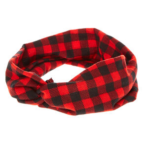 Buffalo Babe Red and Black Plaid Headwrap,
