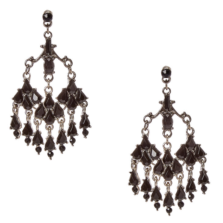 Victorian Black Crystal Drop Earrings at Icing in Victor, NY | Tuggl