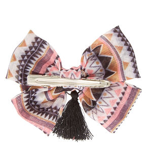 Mini Aztec Bow Hair Clip,