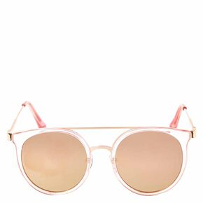 Round Clear Rose Sunglasses,
