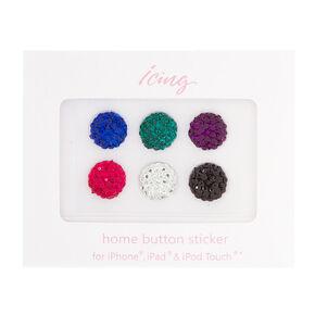 Colorful Fireballs Home Button Stickers,