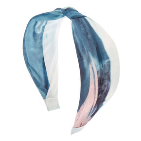 Marbled Water Color Cinched Wide Headband,