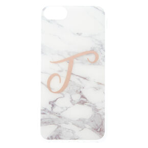 Marbled T Initial Phone Case,