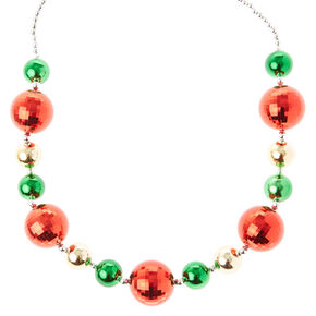 Red, Green and Gold Ornament Oversized Necklace,