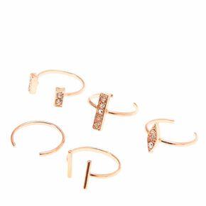 Rose Gold Toned Toe Ring Set,