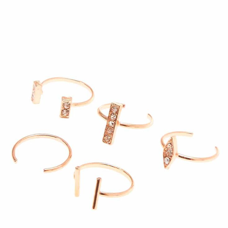 Rose Gold Toned Toe Ring Set,