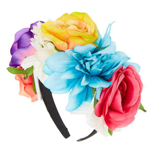 Light Up Floral Black Headband,