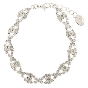 Clear Crystal Scallop Bracelet,