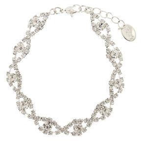 Clear Crystal Scallop Bracelet,