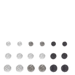 Graduated Pave Ball Stud Earrings,