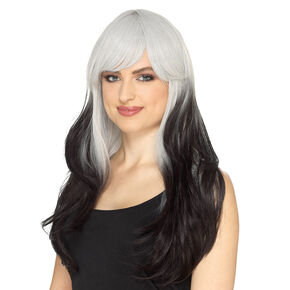 Black Ombre Layered Wig,