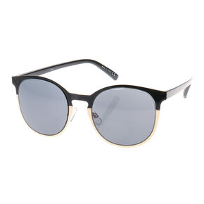 Round Black and Gold Sunglasses,