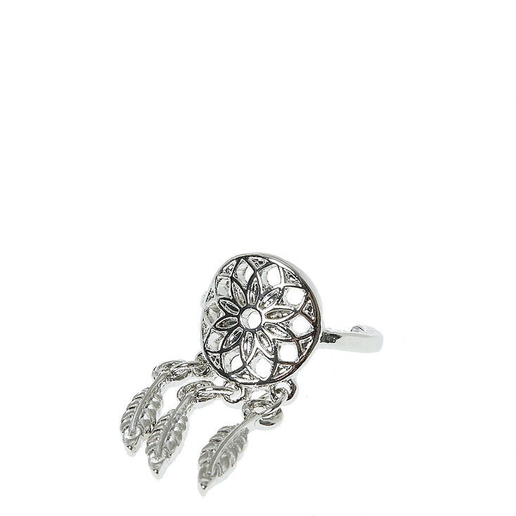 Silver Toned Dreamcatcher Toe Ring,