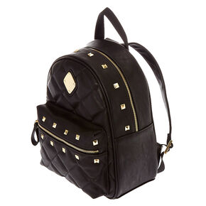 Faux Leather Studded Backpack,
