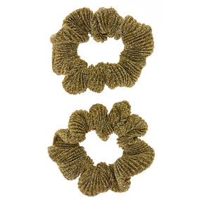 Metallic Gold Lurex Hair Scrunchies,
