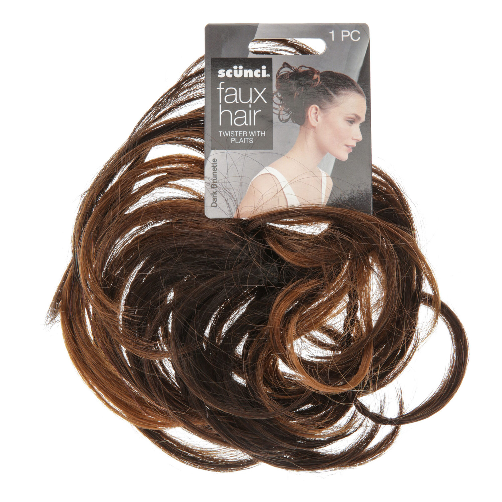 Fake hair clip ins extensions wigs claires faux hair twister with plaits hair bobble pmusecretfo Image collections