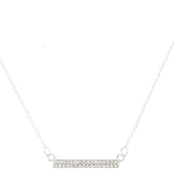 Crystal Bar Necklace,