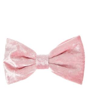 Blush Velvet Hair Bow Clip,