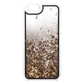Black & Gold Glitter Liquid Fill Phone Case,