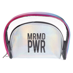 Holographic MRMD PWR 2-in-1 Makeup Bags,
