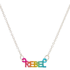 Rainbow Rebel Pendant Necklace,