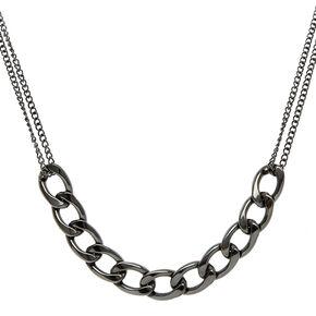 Hematite Glam Chain Necklace,