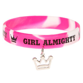 Girl Almighty Rubber Bracelet,