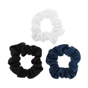 Black, White and Navy Jersey Scrunchies,
