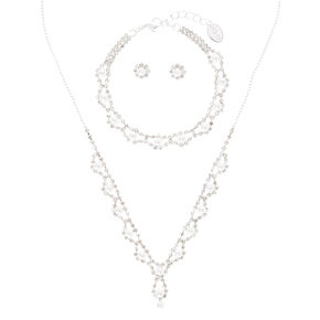 3 Piece Pearl and Crystal Set,