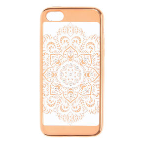 Gold Crystal Mandala Phone Case,