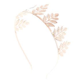 Rose Gold-tone Leaves Tiara,