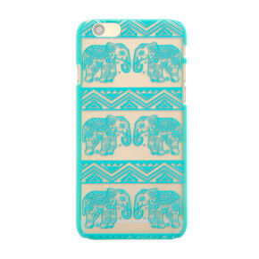 Frosted Mint Elephant Pattern Phone Case