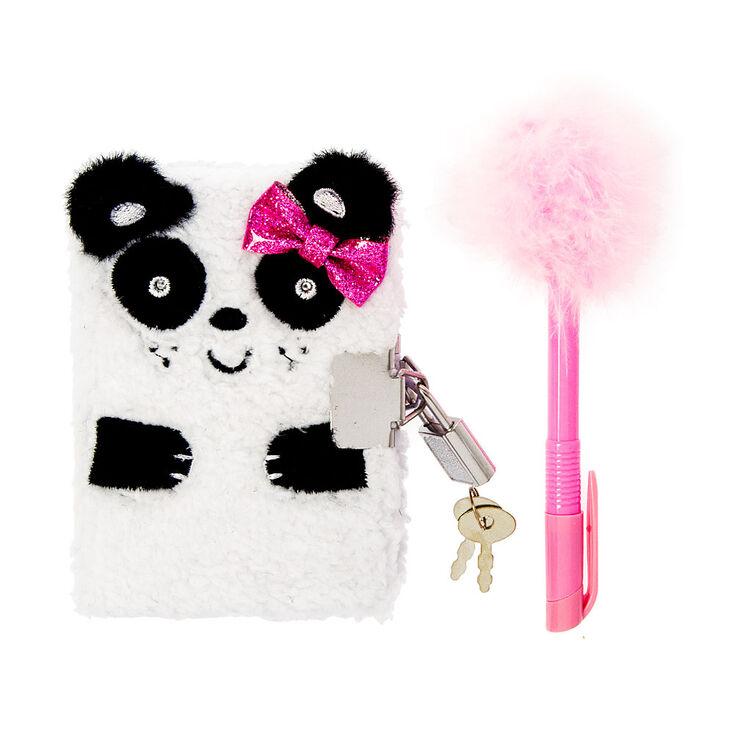 journal intime cadenass motif panda duveteux avec stylo pour enfant claire 39 s fr. Black Bedroom Furniture Sets. Home Design Ideas