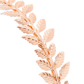 Rose Gold Leaves Headband,