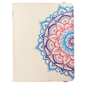 "10"" Glitter Mandala Universal Folio Table Case,"