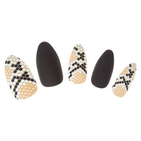 Snake Skin Faux Nails,
