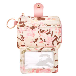 Cream & Blush Pink Mini Coin Wallet,